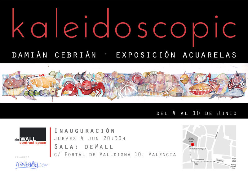 Exhibition illustration and painting in Valencia